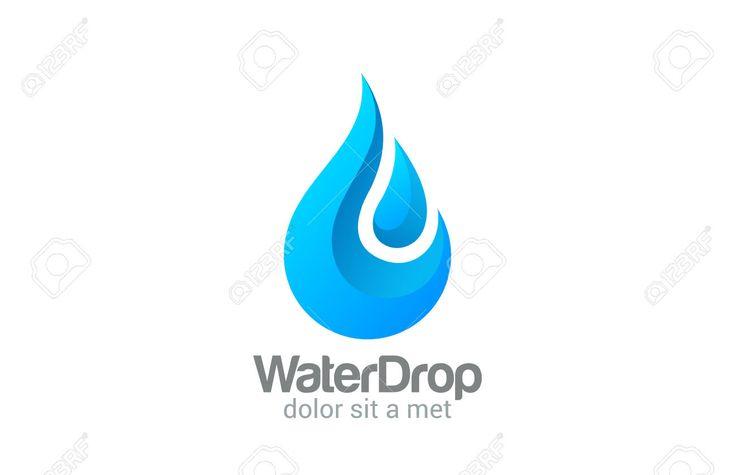Waterdrop Creative Vector Logo Design Template. Clear Water Drop ...