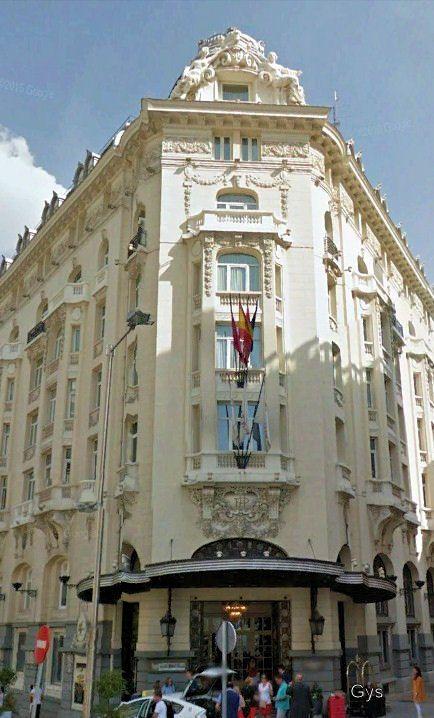 Hotel Palace, Carrera San Jeronimo. Madrid. El Laberinto de los Espíritus, de Carlos Ruíz Zafón.