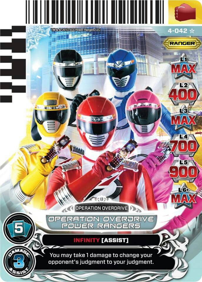 Operation Overdrive Power Rangers Trading Card