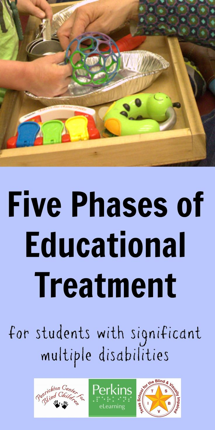 Pinterest collage of 5 phases of educational treatment