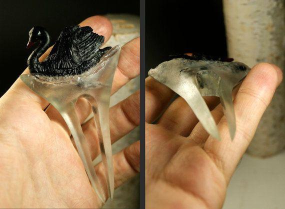 Black Swan Hairpin Hairstick Hair Accessories by FreeInTree