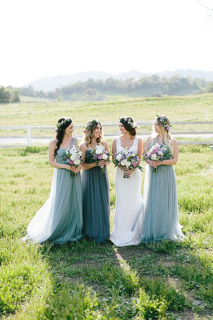 A Charming Bridesmaids Brunch Styled Shoot with @jennyyoo and Bill Levkoff dresses at Tres Lagos | Southern California Bride
