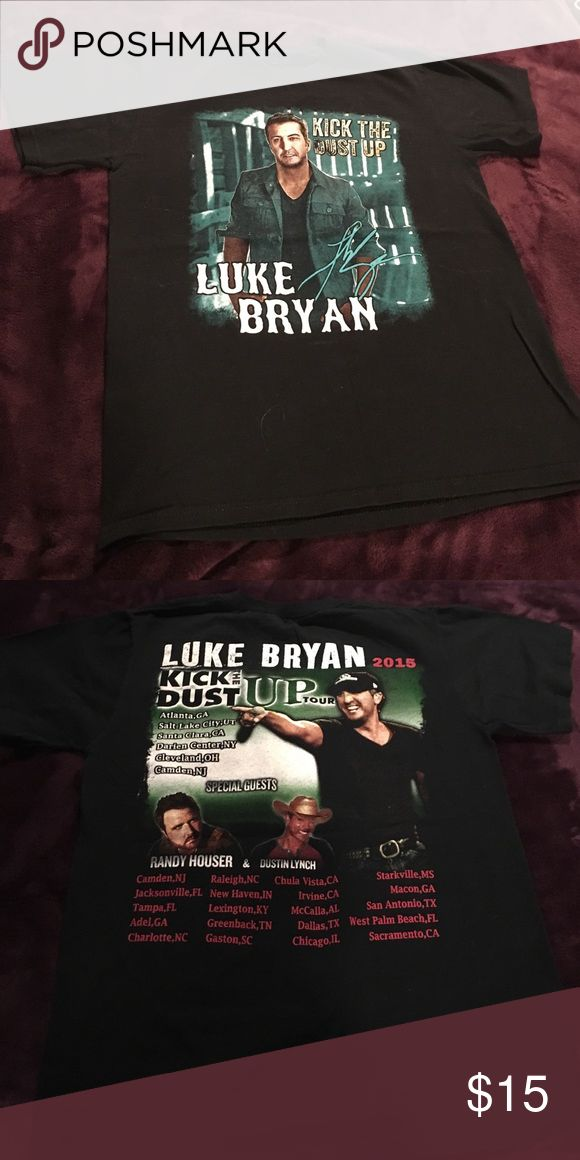 Luke Bryan t-shirt Small Luke Bryan t-shirt. Only worn once to his concert in 2015. In excellent condition! Tops Tees - Short Sleeve