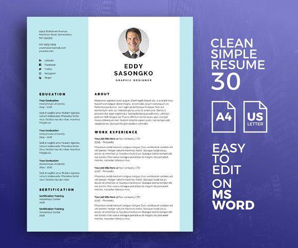 Resume Template 30 Simple Resume Template Resume Template Resume