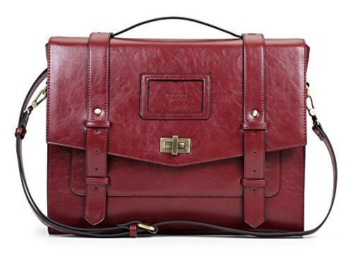 New Trending Briefcases amp; Laptop Bags: ECOSUSI Ladies Faux Leather Briefcase Shoulder Laptop Messenger Bags Satchel Bag Cambridge Backpack Fit 14 Laptop Red. ECOSUSI Ladies Faux Leather Briefcase Shoulder Laptop Messenger Bags Satchel Bag Cambridge Backpack Fit 14″ Laptop Red  Special Offer: $48.99  377 Reviews Featuring high style and maximum storage capabilities, this traveler's messenger bag is a must-have for short...