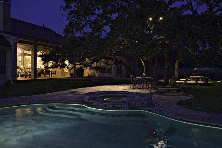 Entertaining Pool Lighting For Wedding and pool deck lighting ideas