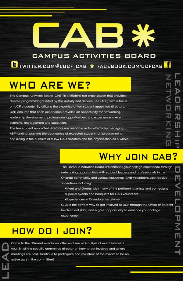 campus activity board cab tri fold on behance campus activities