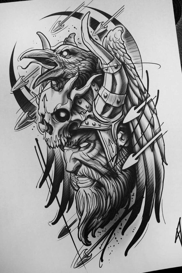 Rabe Krieger Skizze Tattoo – #Rabe #Kizze #Tattoo #Krieger