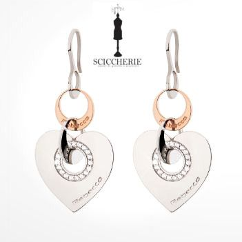 Rebecca Gioielli Collezione San Valentino. Orecchini in acciaio e bronzo con pietre.  #rebeccagioielli #sciccherie #sanvalentino