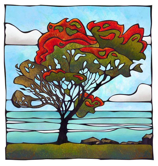 Pohutukawa Ahuriri Napier New Zealand By NZ Artist Sam Lewry