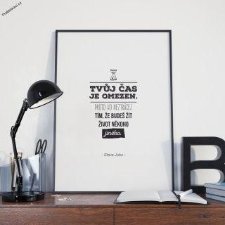 Motivační obraz s výrokem uznávaného Steva Jobse