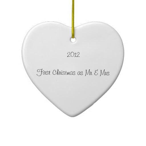 First Christmas Ornament for newly married couple