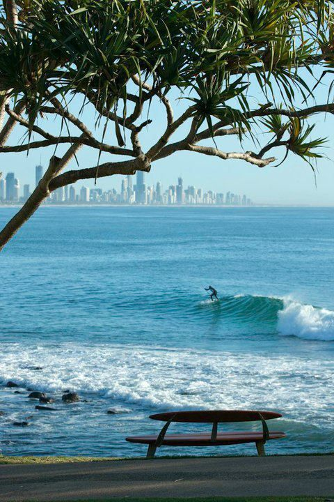 another of Burleigh Heads, Qld Australia with Surfers Paradise in background