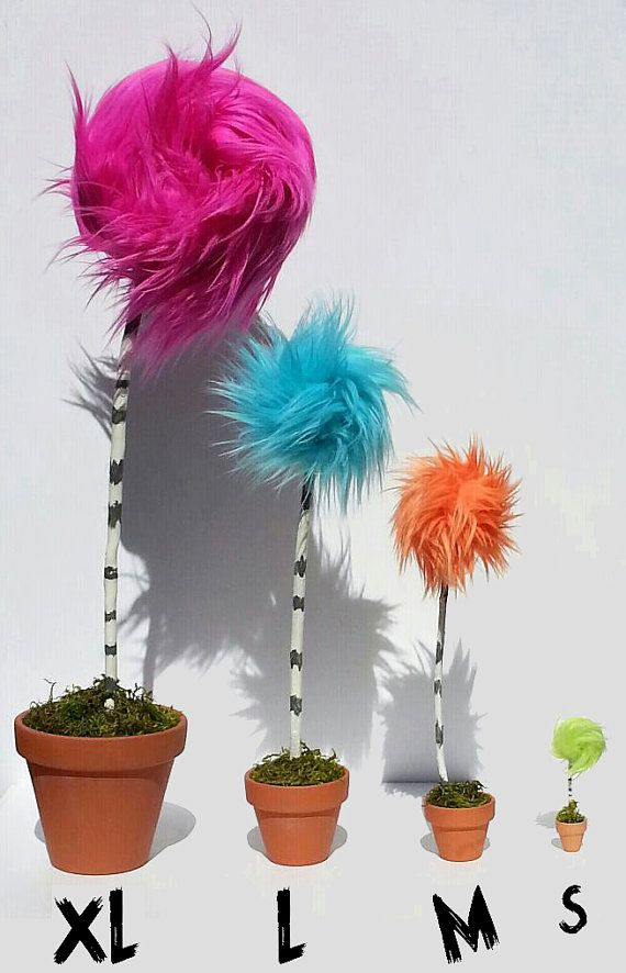M Dr Seuss Truffula Tree inspired by The Lorax MEDIUM 9 by ...