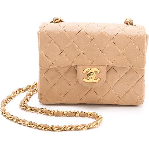 WGACA Vintage Vintage Chanel Mini Bag ($1,368) ❤ liked on Polyvore featuring bags, handbags, purses, bolsas, chanel, accessories, beige, crossbody, hand bags and handbag purse