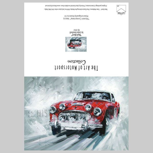 Christmas Card - Timo Makinen Austin Healey 3000 1965 RAC Rally ...