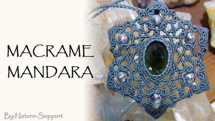 macrame mandara necklace【マクラメ曼荼羅ネックレス】