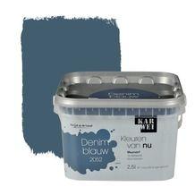 KARWEI Kleuren van Nu muurverf mat denimblauw 2,5 l