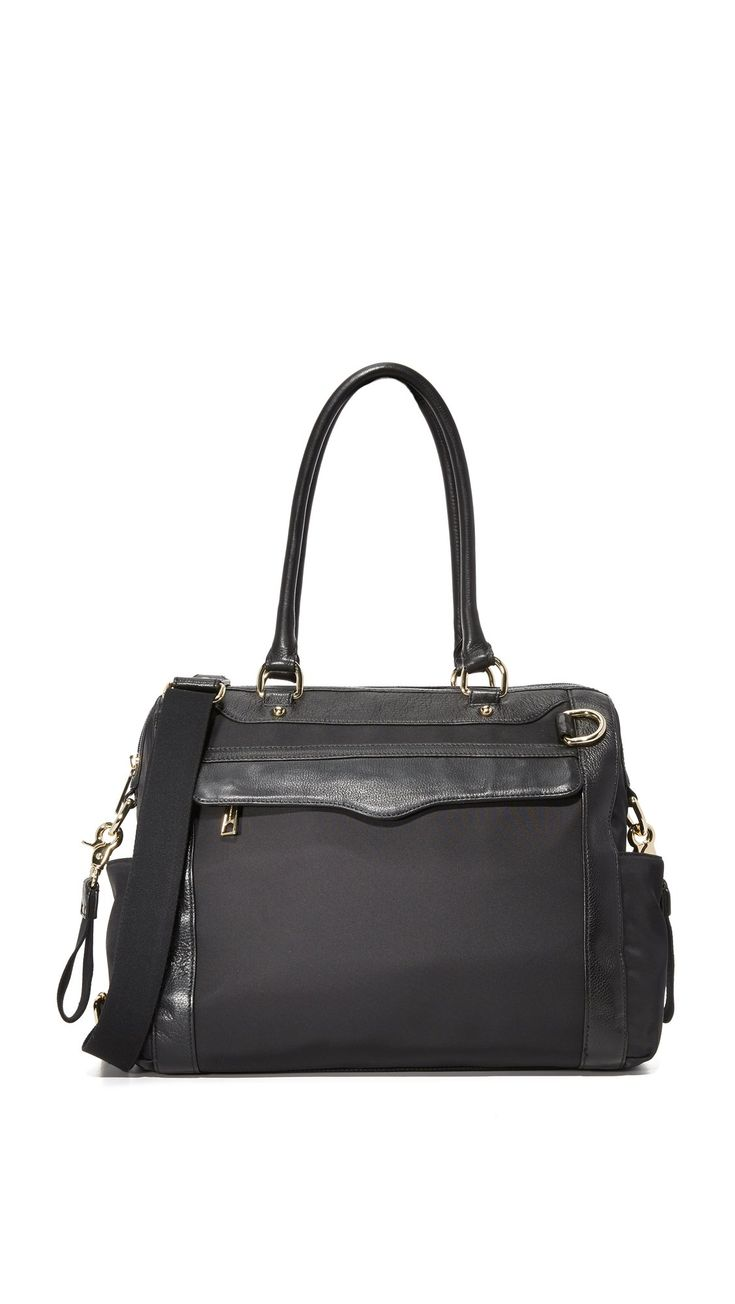 Rebecca Minkoff Knocked Up Diaper Bag,Black,One Size