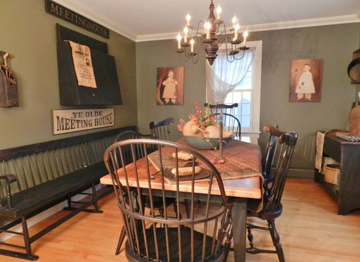 643 Best Dining Room Colonialprim Style Images On Pinterest Glamorous Primitive Dining Room Sets Design Decoration