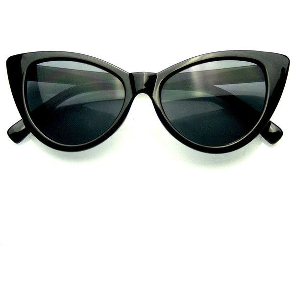 Fashion Hot Tip Vintage Pointed Cat Eye Sunglasses ($7.95) ❤ liked on Polyvore featuring accessories, eyewear, sunglasses, vintage cat eye sunglasses, vintage sunglasses, cat-eye glasses, cateye sunglasses and vintage eyewear