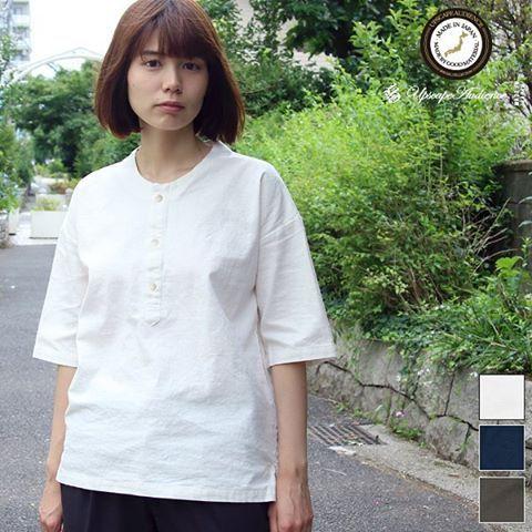 2016年6月26日【 Web Store 更新 】  コットンリネンキャンバス甚平トップシャツ / Upscape Audience [Lady's][ http://www.aud-inc.com/product/2443 ]  #シャツ #高円寺 #甚平 #ジンベイ #コットンリネン #綿麻 #半袖 #メンズ #mens #レディース #ladys #東京 #style #fashion #NowAvailable #webstore