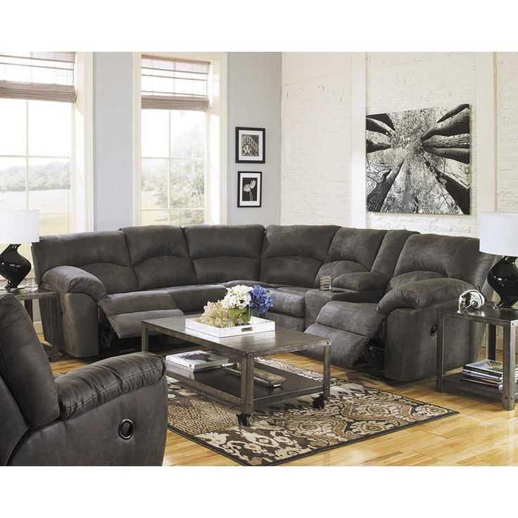 Picture of 2PC Pewter Reclining Sectional