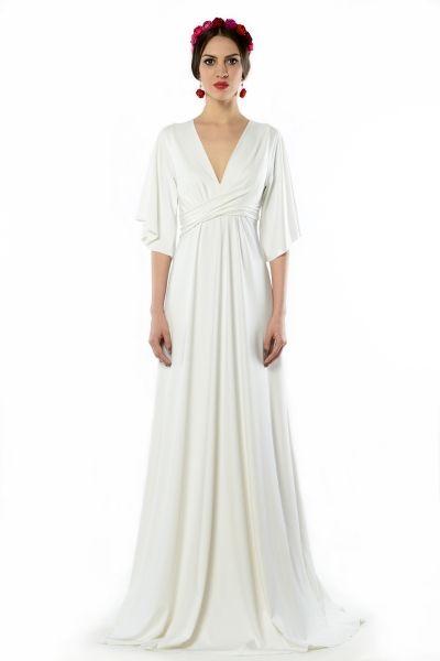 Magdalena Maxi White - biała, wysmuklająca suknia