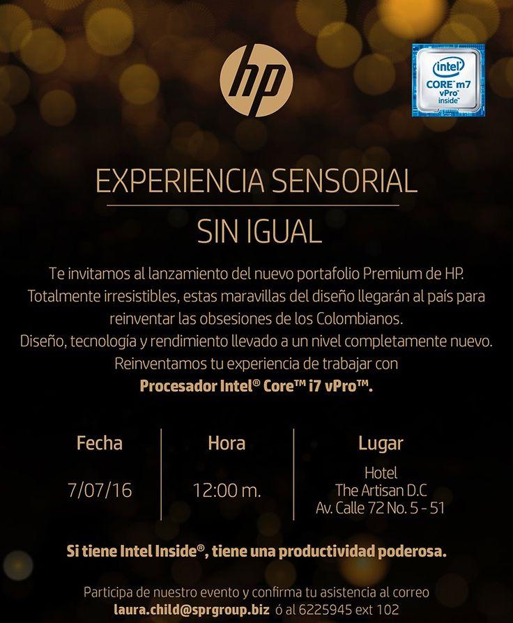 @HPColombia Experiencia Sensorial en el Lanzamiento de su línea Premium en Colombia: Reinvent Obsession @ENTERCO
