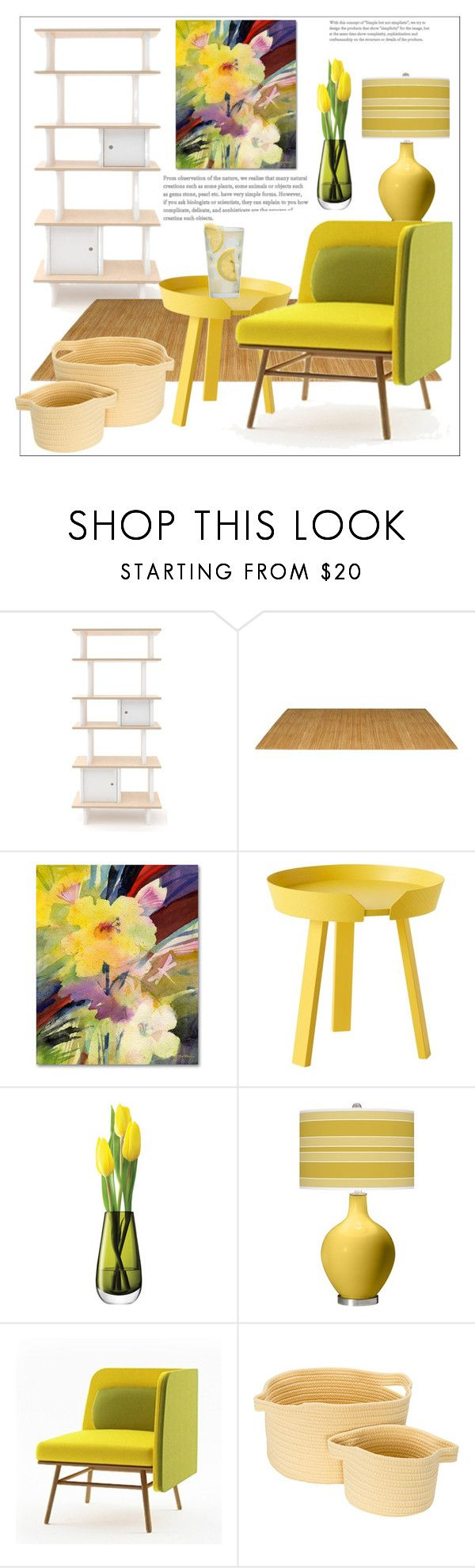 """Yellow Interrior"" by natalyapril1976 on Polyvore featuring interior, interiors, interior design, home, home decor, interior decorating, Oeuf, Trademark Fine Art, Muuto and LSA International"