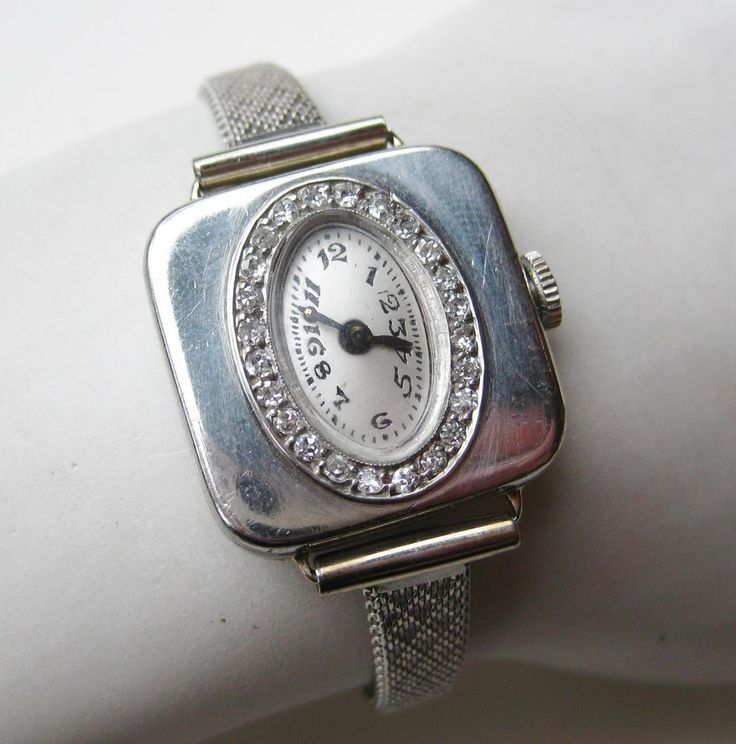 Stunning Vtg Art Deco Omega 244 Diamond Platinum Ladies Watch ExCond NR