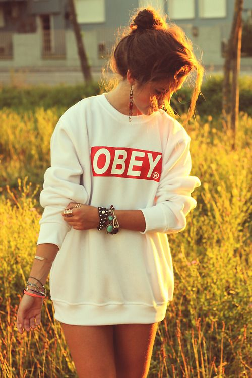 I've been wanting an Obey sweatshirt