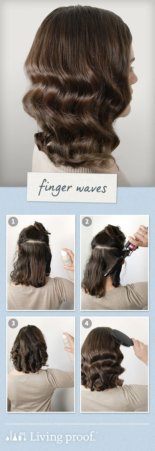 @LivingProofInc Wedding Guest Hairstyle:Finger Waves