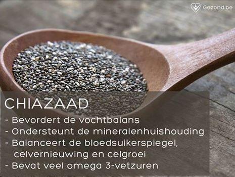 Breng je lichaam in balans met chiazaad! #fact