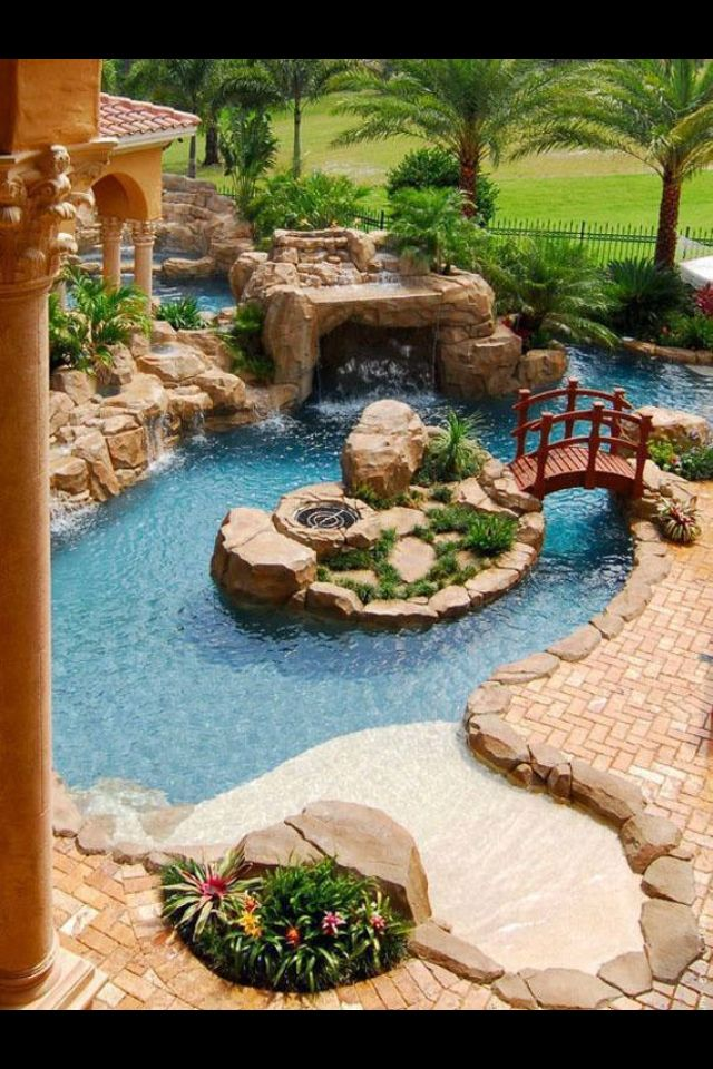 94 best outside pools images on pinterest backyard ideas for Garden pond insert