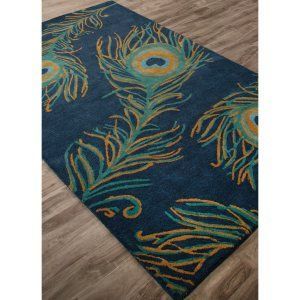 Peacock Area Rug from $83.00 www.allthingspeacock.com - Peacock Rugs