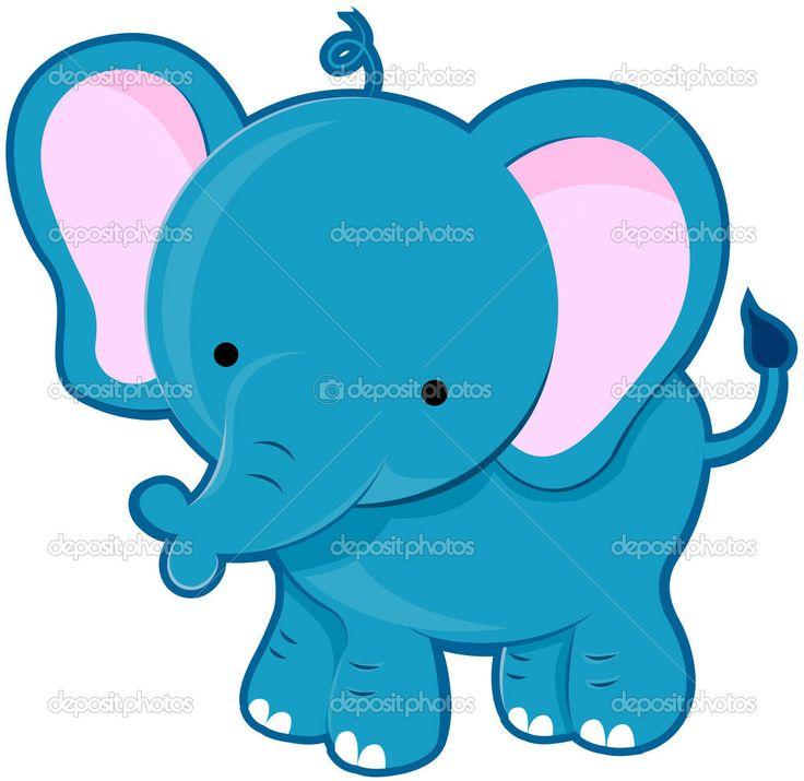 Cute Cartoon Elephants | Cute Elephant — Stock Photo © Lorelyn Medina #3954191