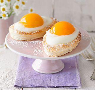 Zitronencreme-Blätterteig-Eier