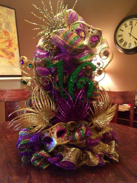 Christmas Masquerade Party Ideas Part - 22: Party Centerpiece By ChicAffair On Etsy -- For That Mardi Gras Party In Feb