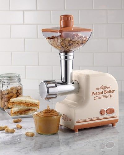 Make peanut butter the way YOU want it. Try it with a few cashews, or with a bit of honey.   #almonds #cashews #hazelnut #macademia #nostalgia electrics #pbm500 #peanut butter #peanut butter maker #peanuts #sunflower seeds