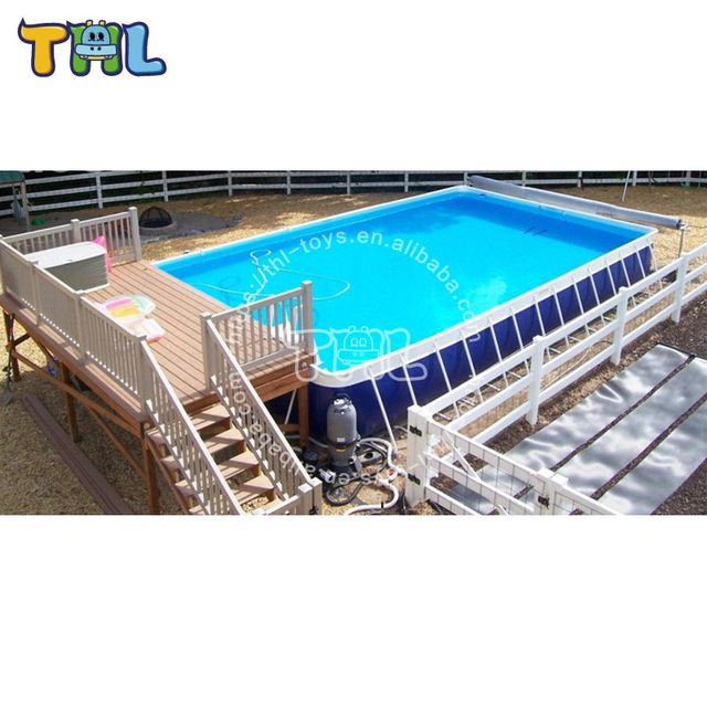 Source Portable Metal Frame Swimming Pool Used Swimming Pool For Sale On M Alibaba Com Pool Swimming Pools Swimming
