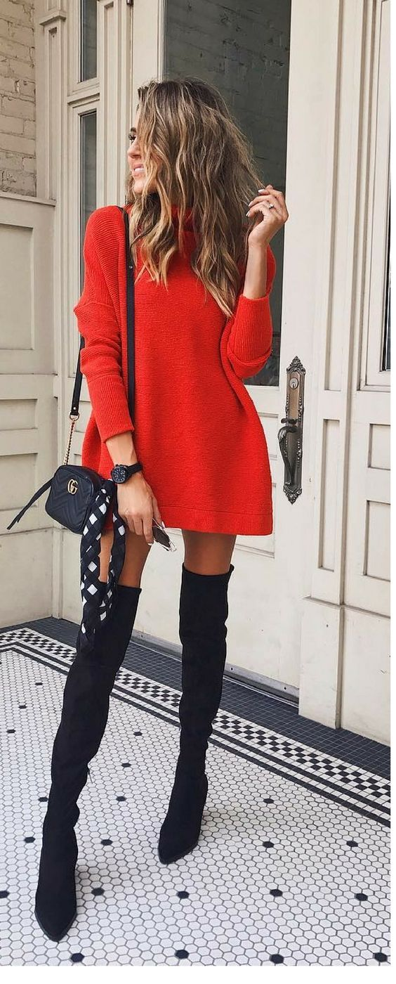 2019 year style- How to thigh wear high boots pinterest