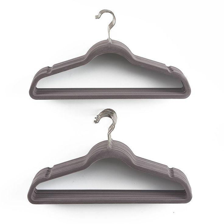 Flocked 26-pack Hanger, Grey