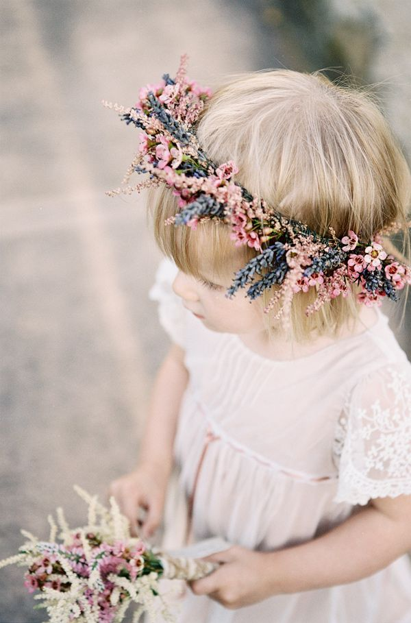 sweet bohemian flower girl // photo by Braedon Photography