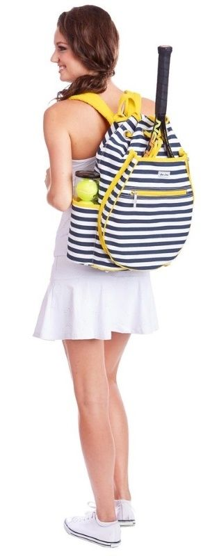 Get noticed on the court with Tilly Ame & Lulu Ladies Kingsley Tennis Backpack by @ntennisboutique