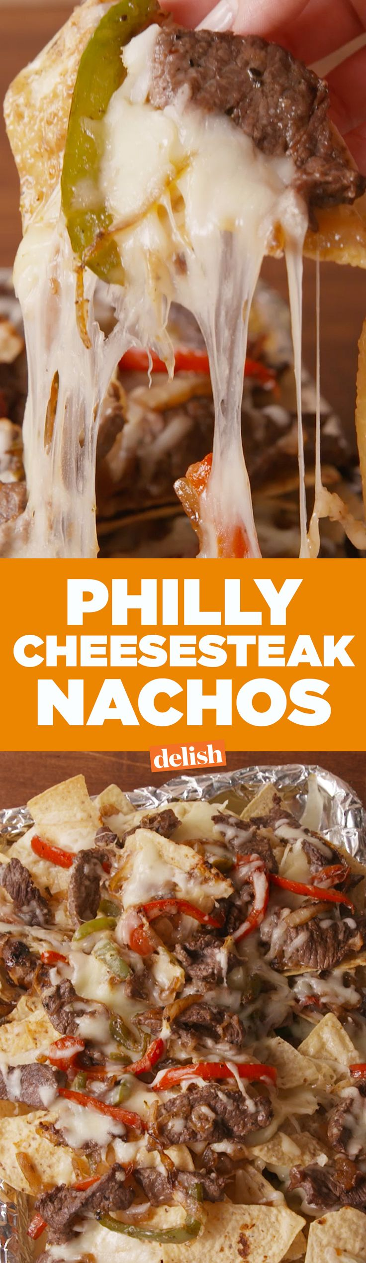 Philly Cheesesteak Nachos deserve the top seed in your bracket. Get the recipe on Delish.com.