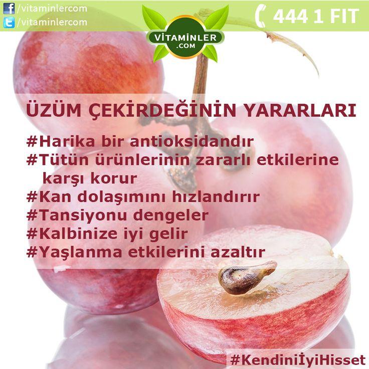 Üzüm çekirdeklerinin sağlığınıza olan faydalarını duyduğunuzda şaşırabilirsiniz. Paylaşın, tüm dostlarınız bu faydalardan haberdar olsun. Son derece faydalı, üzüm çekirdeği içerikli ürünümüze resme tıklayarak ulaşabilirsiniz.  Kendini İyi Hisset #metabolizma #destekleyici #besin #sebze #meyve #vitamin #beslenme #bağışıklıksistemi #vitamin #balıkyağı #omega3 #sağlık #diyet #health #sağlıklıyaşam #antioksidan #bitkisel #doğa #cvitamini #eklem #eklemağrısı #mineral #sindirim #probiyotik…