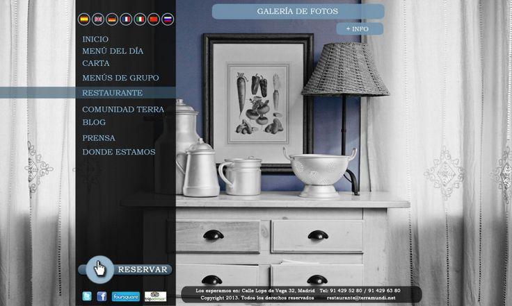 Diseño Web Restaurante Terramundi.  Restaurante ubicado en el barrio de Huertas (Madrid)