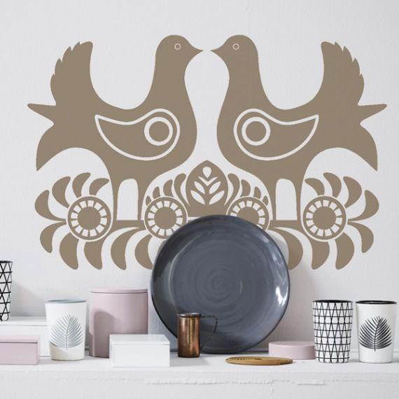 Gołębie naklejka na ścianę/szablon