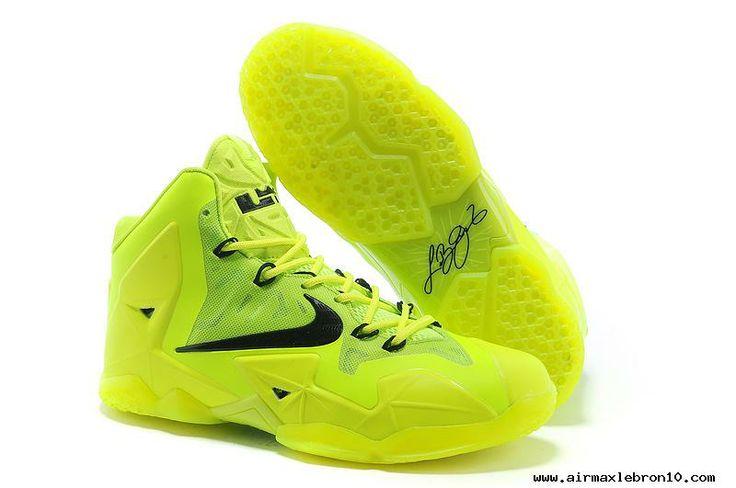 Womens Fluorescence Green Black Nike LeBron 11